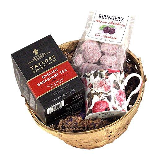 English Breakfast Tea Gift Basket - English Breakfast Tea with Tea Mug and Tea Cookies