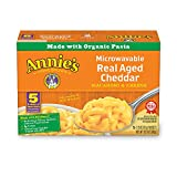 Annie's Real Aged Cheddar Microwavable Macaroni & Cheese, 5 Packets, 2.15oz