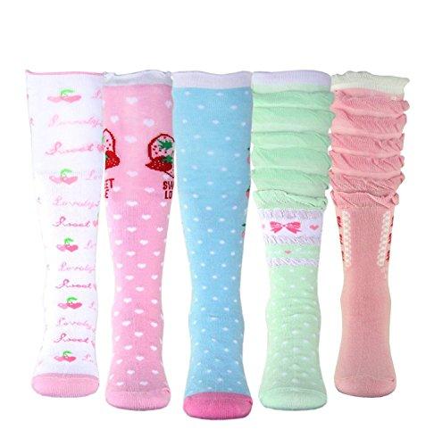Girls' Socks Knee High Stockings Cotton Warm Princess Boot Socks,10 Pairs (7~10 Years) by MarJunSep (Image #2)