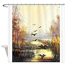 CafePress - Autumn Hunting Pastel - Decorative Fabric Shower Curtain