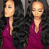 Belinda Hair Brazilian Body Wave Virgin Hair 4 Bundles Grade 7A Unprocessed 100% Human Hair Weave Extensions Natural Color Length 16 18 20 22inches
