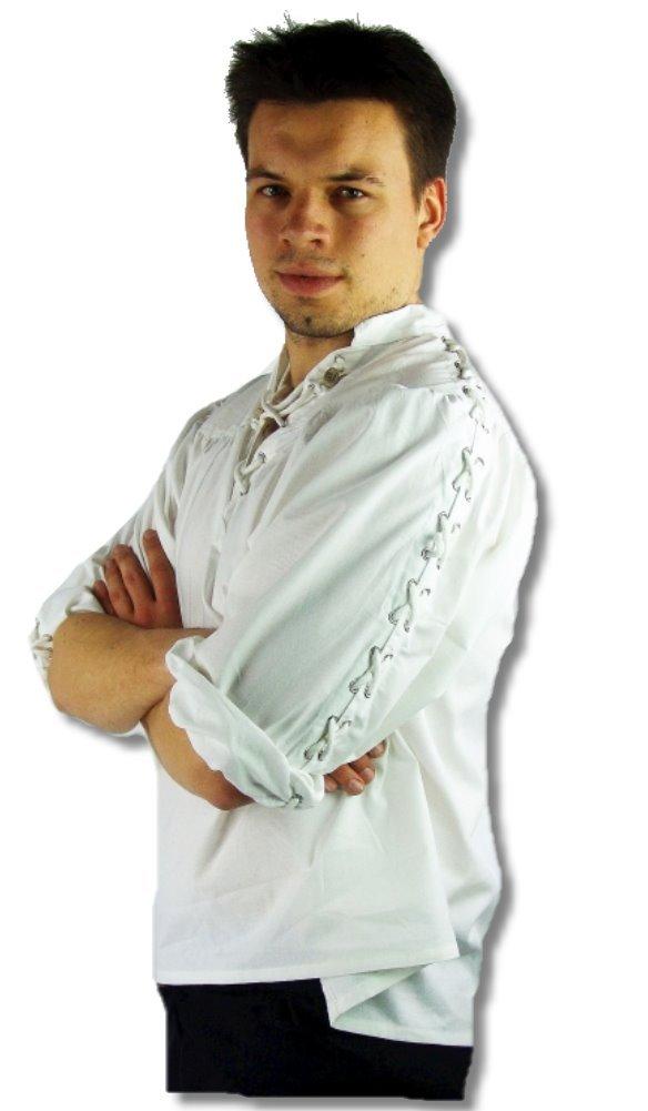 Leonardo Carbone Mittelalter Markthemd - Herren Leander XL weiss B00FAPR3EQ Kostüme für Erwachsene Ästhetisches Aussehen | Online einkaufen