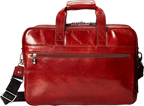 - Bosca Old Leather Collection - Stringer Bag Laptop Bag Cognac Leather