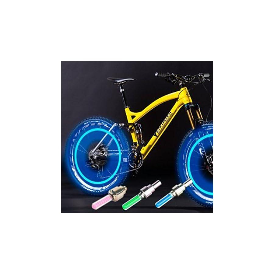 Ocathnon Bike Wheel Lights Automotive Tire Light Waterproof Led Flash Tyre Wheel Valve Cap Light for Bike Decorative Bicycle Accessories Led Bike Lights