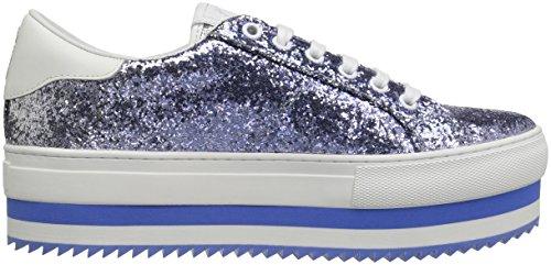 Marc Jacobs Femmes Grande Plate-forme Lace Up Sneaker Bleu / Multi