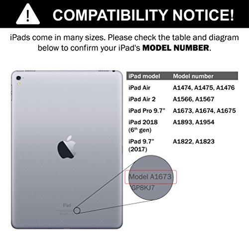 iPad Keyboard Case for iPad 2018 (6th Gen) - iPad 2017 (5th Gen) - iPad Pro 9.7 - iPad Air 2 & 1 - Thin & Light - 360 Rotatable - Wireless/BT - Backlit 7 Color - iPad Case with Keyboard (9.7, Black) by YEKBEE (Image #8)