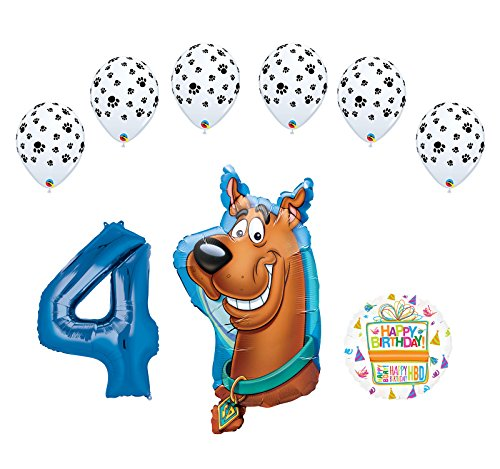 Mayflower Products Scooby Doo 4th Birthday Party Supplies Balloon Bouquet -