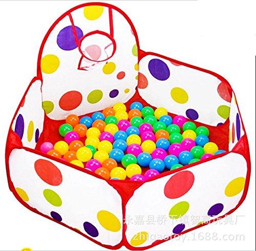 ZHUDJ Kinderspielzeug Zelt Meer Pool Rahmen Poopo Rahmen Pool Zusammenklappbar Große Kugel Schießen Spielzeug Haus, 1,2 Meter Pool, 300 7 Cm Kugeln 415a79