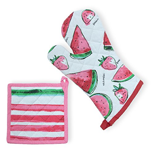 Celebrate the Home URB18593 Oven Mitt and Potholder, Watermelon by Celebrate the Home