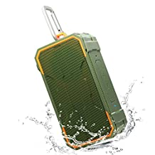 Willnorn Portable Bluetooth Speakers, Outdoor IPX6 Waterproof, 10W Dual Drivers with Back Subwoofer, Enhanced Bass, Built in Mic for Sports, Pool, Beach, Hiking, Camping