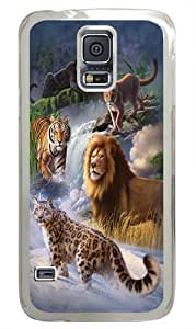 Global Big Cats PC Case Cover for Samsung S5 and Samsung Galaxy S5 Transparent