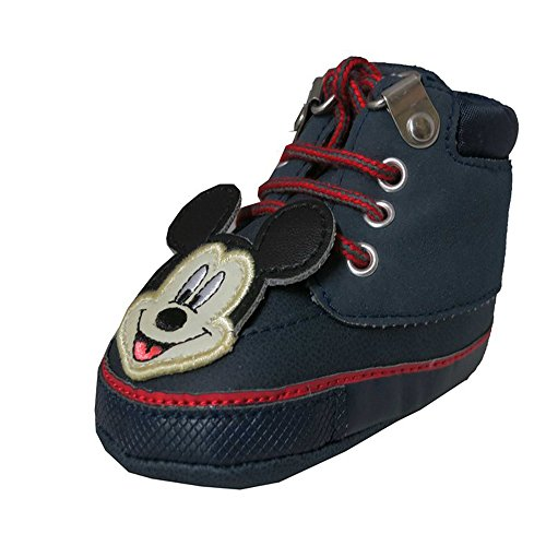 Disney Mickey Mouse Laced Navy Sneakers - Baby Boys Size 3-6 (3012)Months