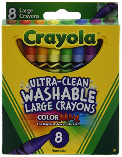 Crayola 5555 Kid's First Large Washable Crayons 8 Ct