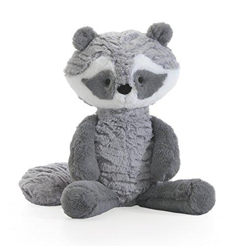 Lambs & Ivy Little Woodland Raccoon Plush,Suki, Gray