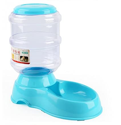 DAN Comedero Automático para Mascotas Alimentador Automático para Perros Dispensador Automático para Gatos,Blue
