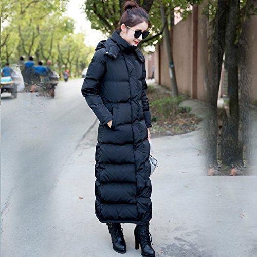 Clado Slim Donna Nero Cappotto Giacca Imbottito Piumino lungo Vogue La S7ZYq