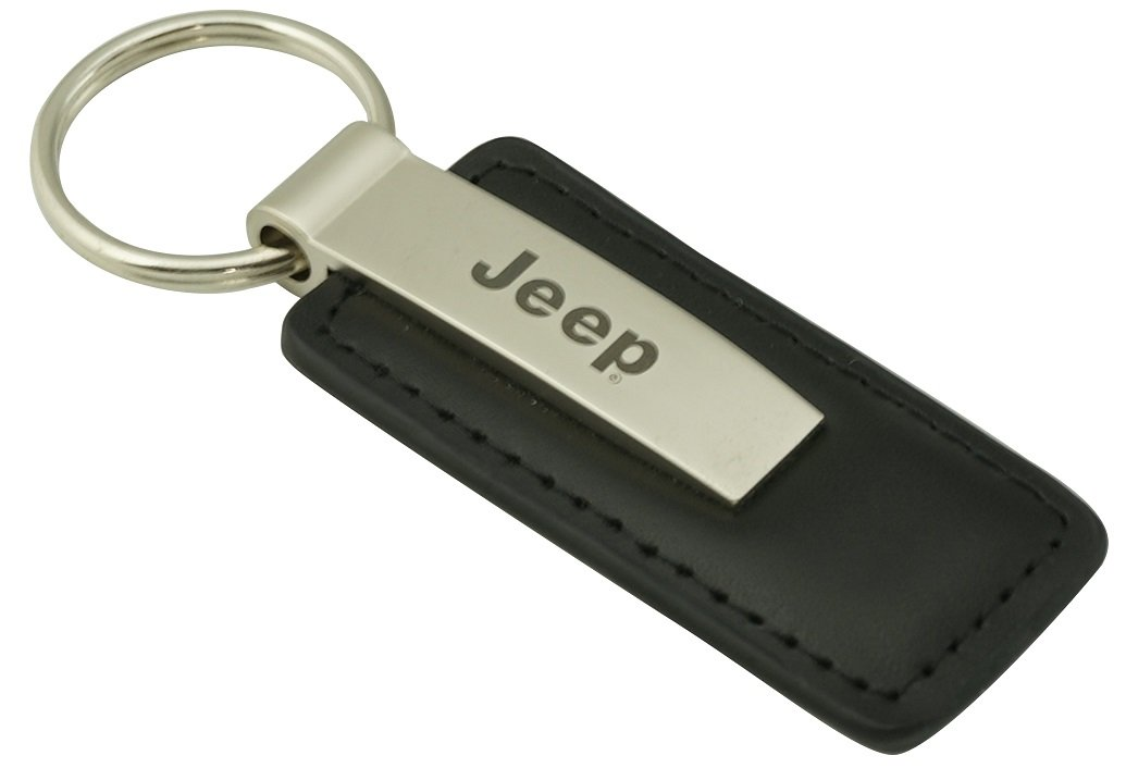 Au-tomotive Gold Jeep Keychain & Keyring - Premium Leather KC1540.JEE