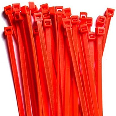 Gocableties 100 Stück Kabelbinder Rot 300 Mm X 4 8 Mm Premiumqualität Uv Beständiges Set Baumarkt