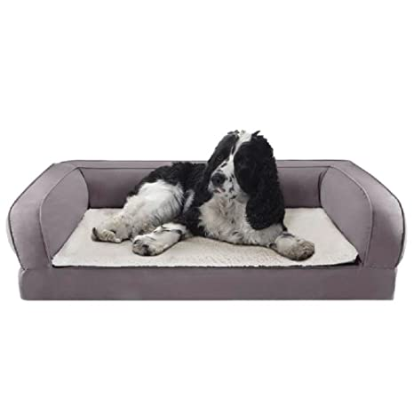 Cama ortopédica para perros con espuma de memoria ayuda a proteger las articulaciones y