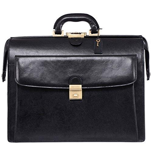 Leather Litigator Laptop Briefcase - 6