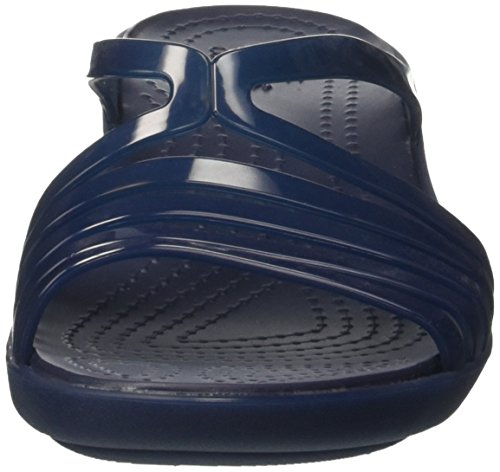 W Crocs Women's Sandal Navy Navy Wedge Isabella Mini qx1TwxFv4