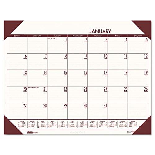 HOD12441-22 x 17 - House of Doolittle EcoTones Monthly Desk Pad Calendar - Each (Pad Calendar Ecotones Monthly Desk)