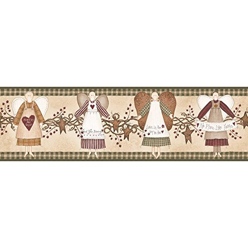 (York Wallcoverings YC3310BD Welcome Home Angels Border)