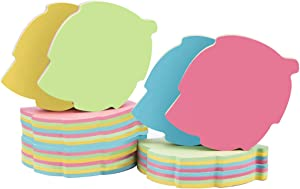 Leaf Sticky Notes - 1000 Sheets Mixed 4 Color Bulk Sale Sticky Memo Post Memo Note Tape Self Stick Notes for Office/School/Home