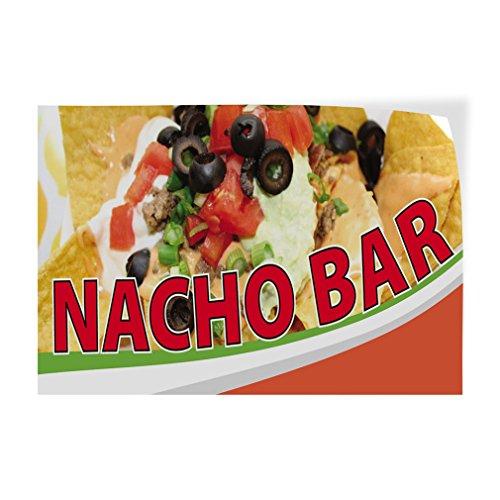 Decal Sticker Multiple Sizes Nacho Bar Restaurant & Food Nacho Bar Outdoor Store Sign Brown - 60inx40in, Set of 5 -