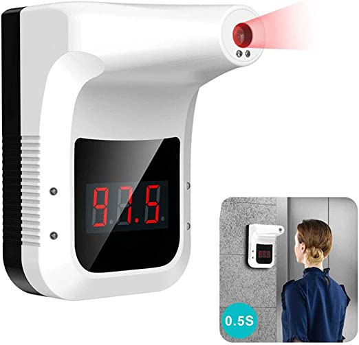 0.5S Quick Test Non-Contact Infrared Forehead Body Temperature Gauge Wall-Mounted Body Thermometer Industrial Automatic Hands Free Body Thermometer Body Temperature Scanner for Company Factory