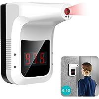 Delaspe Termómetro infrarrojo montado en la Pared, termómetro sin Contacto, Detector de medición Digital, Adecuado para…
