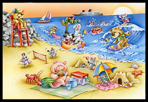 Carolines Treasures Animals Swimming at The Beach Indoor or Outdoor Mat 24x36 APH6822JMAT 24 x 36 Multicolor