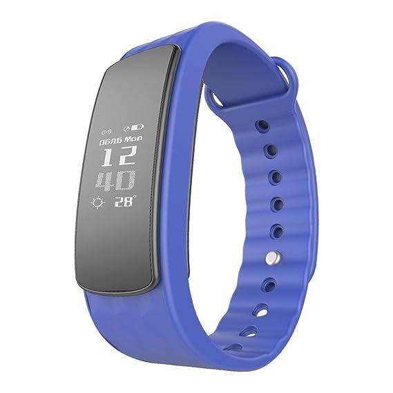Smartwatch Demiawaking Reloj Inteligente Nuevos Relojes Inteligentes I3Hr con Monitor de Frecuencia Cardiaca Pedometer Smart Braceletf (Azul): Amazon.es: ...