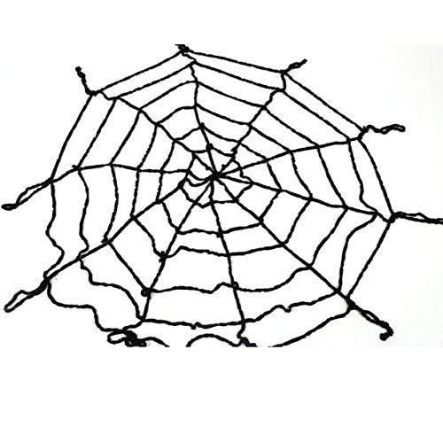 Guo Nuoen Halloween Fake Spider Web Cobweb Net Home Bar Outdoor Yard Haunted House Party Decor Supplies Black/White -