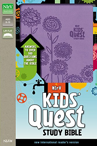 Download NIrV, Kids' Quest Study Bible, Leathersoft, Purple: Answers to over 500 Questions about the Bible PDF