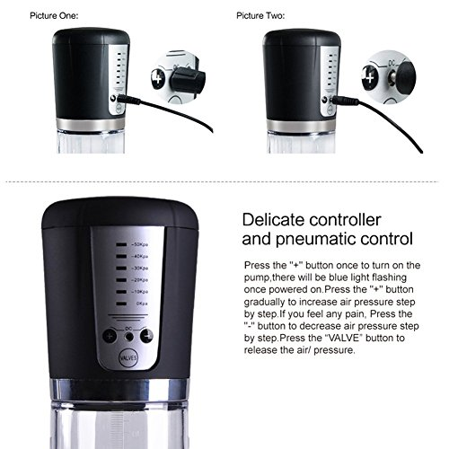 Pumpp USB Rechargeable Male Electric Vacuum Cup Enlarger Extender Bigger Pump Growth Exercise Men Male Performance Enhancement Massager