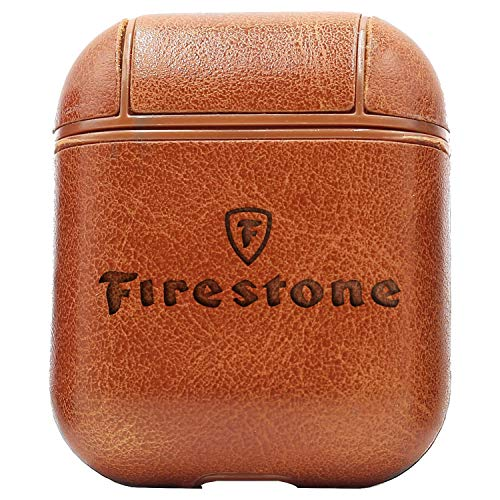 - Logo Firestone. (Vintage Brown) Engraved Air Pods Protective Leather Case Cover - a New Class of Luxury to Your AirPods - Premium PU Leather and Handmade exquisitely by Master Craftsmen