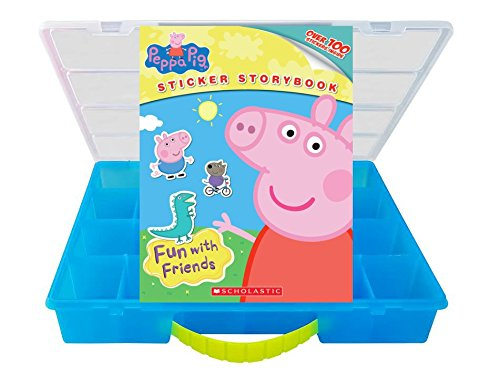 Ultimate Collection Box (Official Peppa Pig Sticker Book + Mini Figures Compatible Storage Organizer. Stores Up to 60 Mini Figures. Customize Your Children's Storage Box With This Ultimate 100+ Sticker Collection)