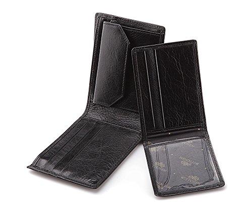 Wittchen Brieftasche   Farbe: Schwarz  Material: Narbenleder  Größe: 11,5x9 CM,   Orientierung: Horizontal   Kollektion: Italy  21-1-019-1