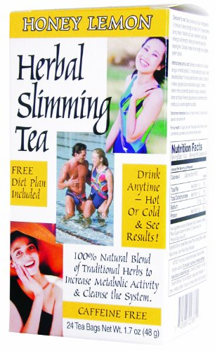 21st Century Herbal Slimming Tea, Honey Lemon - 24 Tea Bags, 3 Pack