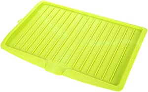 Multifunction Plastic Dish Drainer Tray Drain Rack Kitchen Large Sink Drying Rack Worktop Organizer Drying Rack For Dishes,Green