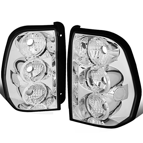 For 2002-2009 Chevy Trailblazer Pair Chrome Housing Altezza Style Tail Light Brake/Parking ()