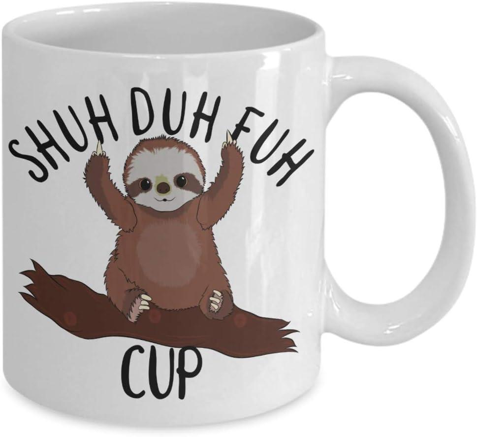 Life Is Better In Pyjamas Sloth 12oz Latte Mug Cup Funny Joke Animal