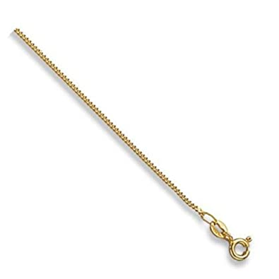 9ct Yellow Gold Curb Chain Necklace - 1mm Thick - Various Lengths - 14, 16, 18, 20, 22 and 24 Inch Long