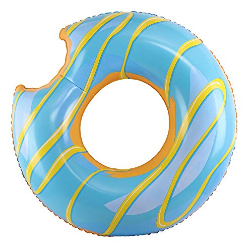 Blue Donut - WenYing Swimming Pool Ring Donut, Inflatable Giant Floats, Donut 120CM Adult Swim Ring Swimming Tube, Summer Beach Toy 48 Inch, Blue