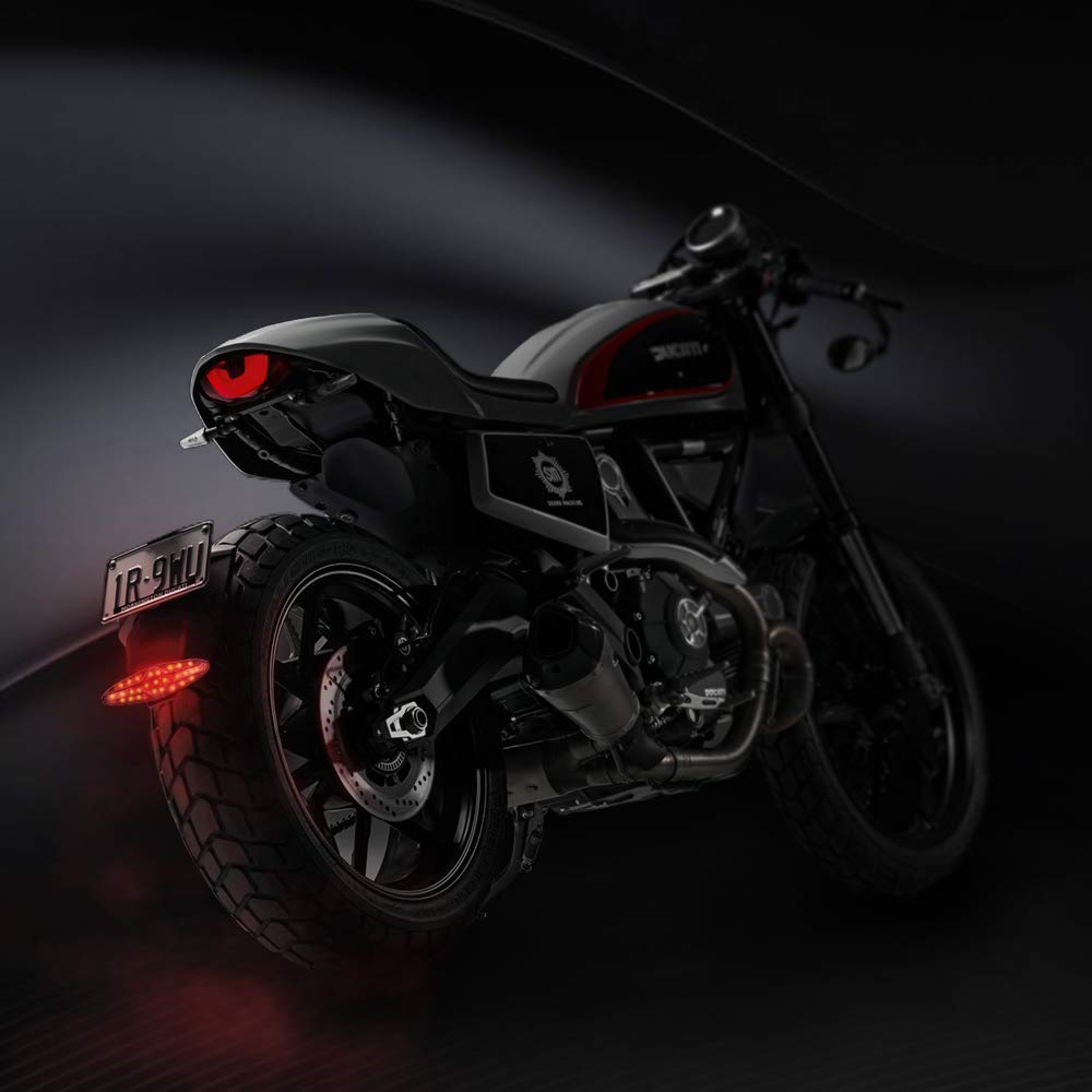 Luz Trasera Motocicleta LED Luz de Freno para Moto,Universal Luz Trasera de Freno LED con 15 LED Multifunci/ón Impermeable Luz de Freno
