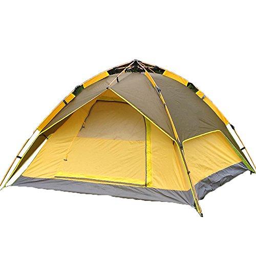 腫瘍弱い促進する家族のテント,アウトドア テント 3 ~ 4 人 スピード オープン ツイン ピクニック 二重扉 二重層 通風孔の大きな フィールド キャンプ 旅行