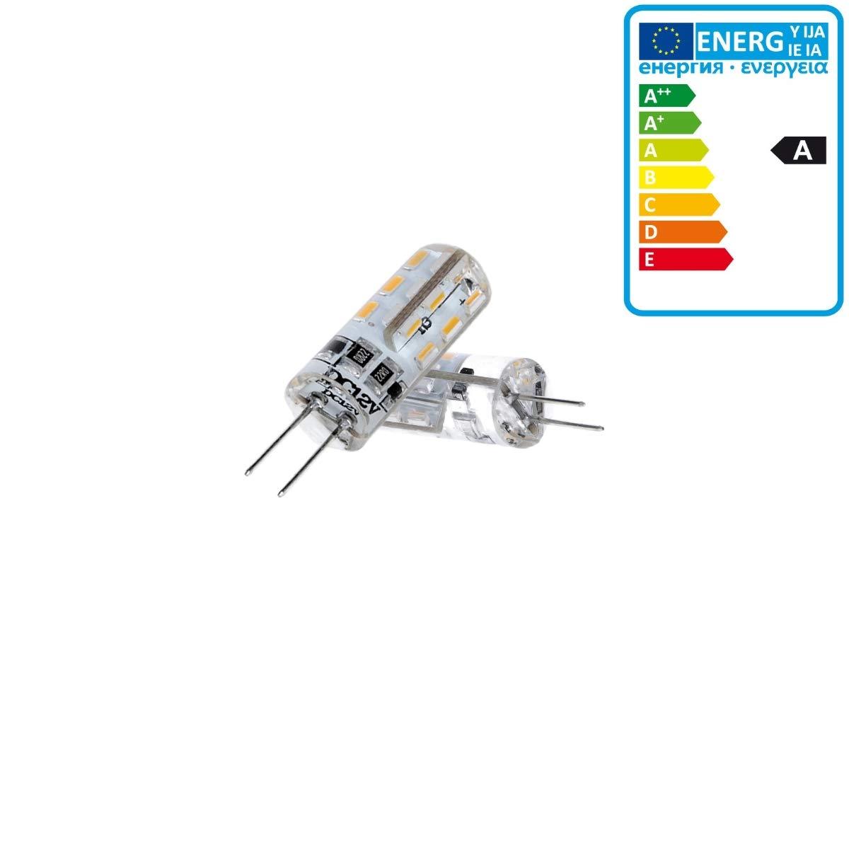 360 /° Angle de faisceau ECD Germany 10 x G4 LED Lampe 1.5W 110 Lumens 3014 SMD blanc chaud