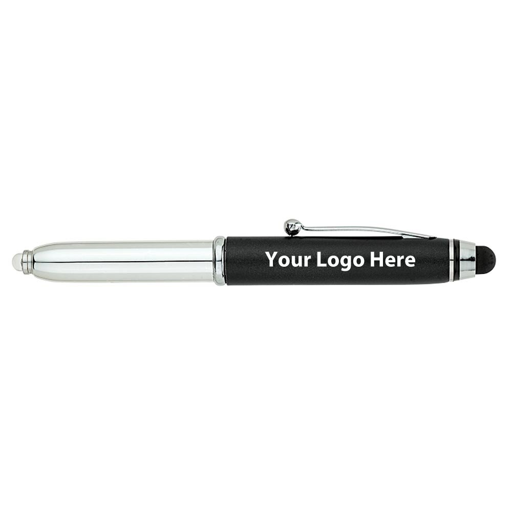 Fine Writing Instruments Engraved Pen / Stylus / LED Light - 200 Quantity - $2.25 Each - PROMOTIONAL PRODUCT / BULK / BRANDED with YOUR LOGO / CUSTOMIZED