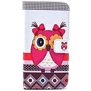 JOELove Beautiful Owls Pattern PU Leather Full Body Case with Stand and Card Slot for Samsung Galaxy S5 I9600